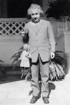 Einstein and puppet-self
