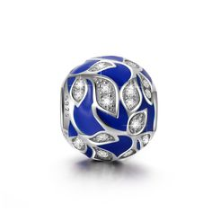 Ninaqueen 925 Sterling Silver Enamel Cubic Zirconia Vine Leaf Charms Fit Pandora Bracelet * See this great product.