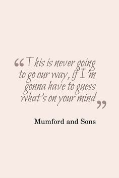 Mumford and Sons  | Believe