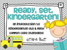 Ready, Set, Kindergarten {introduction to K ELA & Math Com