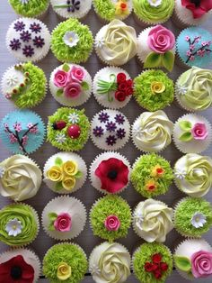 super ideas for cupcakes decoration easter pretty pastel Garden Cupcakes, Spring Cupcakes, Spring Cake, Pretty Cupcakes, Beautiful Cupcakes, Easter Cupcakes, Christmas Cupcakes, Cupcakes Design, Tolle Cupcakes