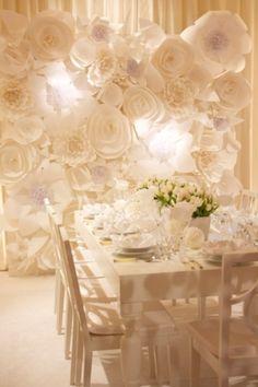 Paper Flower Wedding Ideas - Polka Dot Bride - Loverly
