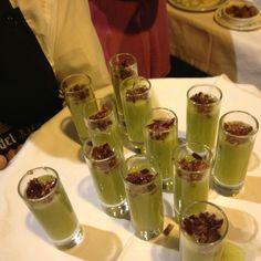 Gazpacho de Melón with pieces of Jamon Iberico-so sexy!