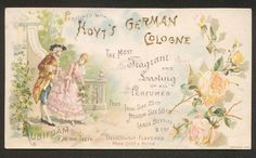 Hoyt's Germany Cologne Victorian Trade Card 1890 (Image1)