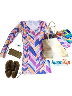 SwimZip UPF 50+ swim dresses / swim cover ups are a MUST have for summer.  You can wear our dresses to the beach and play in the sand, or to your favorite country club.  #caligirl #swimzip won't disappoint.  Featured here with #berkinstocks #gucci #freshlypicked #b.stamped #sunsafe #upf #fashion #swim #swimwear #vacation