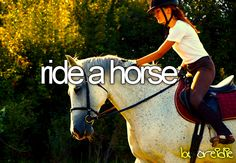 ride a horse when i was 12 years old that is when i first rode  a horse with my dad and my two brothers.