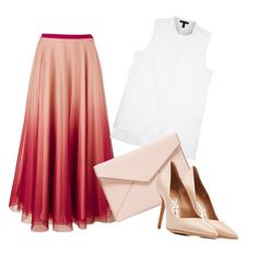 """""""Untitled #82"""" by natali126 ❤ liked on Polyvore featuring RED Valentino, Eileen Fisher, Rebecca Minkoff and Salvatore Ferragamo"""