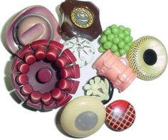 Celluloid Buttons can be primarily recognized by their shank Button Workshop - A Button Lady