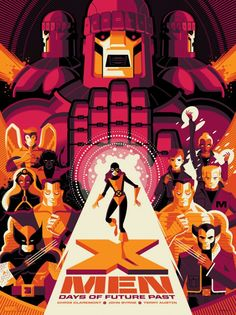X-Men Days of Future Past by Tom Whalen