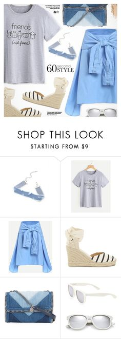 """""""60-Second Style: Asymmetric Skirts"""" by pokadoll ❤ liked on Polyvore featuring Hedi Slimane, Soludos, STELLA McCARTNEY and Yves Saint Laurent"""