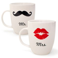 Mr. & Mrs Mugs. Cute!