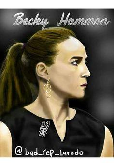 Spurs Assistant Coach Becky Hammon.