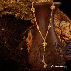 Gold Chain Design from Josalukkas, Josalukkas Gold Jewellery Designs. Gold Chain Design, Gold Jewellery Design, Gold Earrings Designs, Necklace Designs, Gold Mangalsutra, Real Gold Jewelry, Jelsa, Gold Fashion, Gold Chains