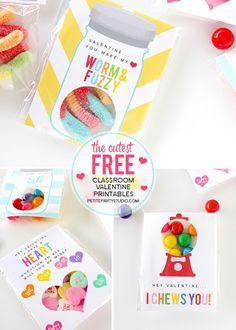 FREE PRINTABLE DIY Class Valentines by Petite Party Studio