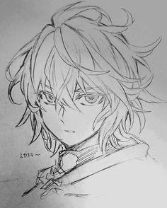 drawings of love Anime Drawings Sketches, Anime Sketch, Manga Drawing, Manga Art, Cute Drawings, Manga Anime, Anime Art, Mikaela Hyakuya, Art Reference Poses