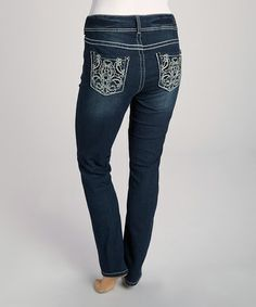 Take a look at this Dark Blue Curvy Skinny Jeans - Plus by Wall Flower on #zulily today!