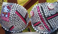 Hello Kitty rhinestone custom made bra any size by Smokinghotdivas, $55.00