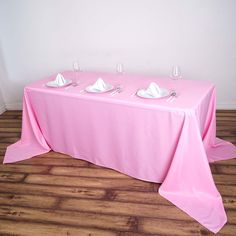 x Polyester Rectangular Tablecloth - Pink Diy Reception Decorations, Flower Table Decorations, Event Decor, Tablecloth Sizes, Linen Tablecloth, Tablecloths, Banquet Tables, Party Tables