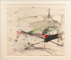 Joan Mitchell Untitled 1959 Pastel, crayon, watercolor on paper. Joan Mitchell, Expressionist Artists, Abstract Expressionism, Tachisme, Art Archive, Abstract Paintings, Oil Paintings, Great Artists, Sketches