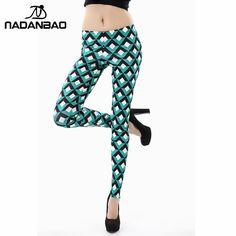 Nova Chegada 3D Impresso Mulheres leggings Verde do estilo da malha leggins mulher KDK1403