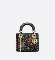 Mini Lady Dior bag in embroidered calfskin - Dior Dior Perfume c0017fc864fde