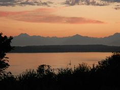 Sunset over Puget Sound, Seattle
