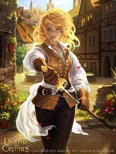 Artist: Woochul Lee aka atomiiii - Title: D'Artagnan - Card: Musketeer Hopeful d'Artagnan