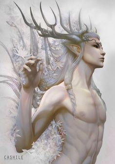 Elf / Faerie King - Pearlescent White by Cashile on DeviantArt