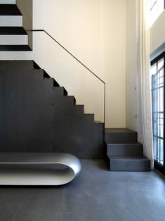 loft fd a milano - Federico Delrosso Architects Minimal Architecture, Interior Architecture, Interior Design, Loft, Milan Italy, Italian Style, Concrete, Minimalism, Stairs