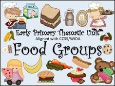 This Food Groups thematic unit addresses early primary science standards. The activities and printables included develop the concept and vocabulary being taught in the unit.  The children will be exposed to the food unit's vocabulary across the curriculum.$