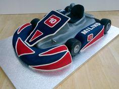 go kart novelty birthday cake Boys 16th Birthday Cake, Novelty Birthday Cakes, Karting, Go Kart Party, Racing Cake, Susie Cakes, Cake Structure, Transportation Birthday, Cars Birthday Parties