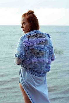 knitted bomber