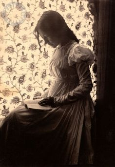 """Zitkala-Sa"" reading by windowlight, by Gertrude Kasebier (Smithsonian Institution)"