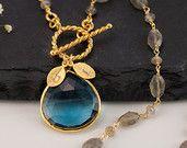 Purple Amethyst Necklace - February Birthstone Necklace - Gold Hamsa Hand Necklace - Good Luck Hand Necklace -. $34.00, via Etsy.