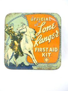 Lata de primeros auxilios vintage