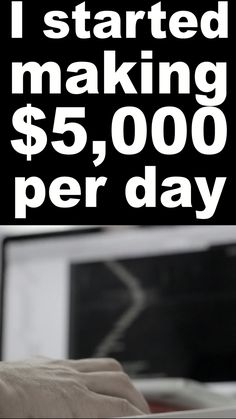 I started making $5,000 per day | Work From Home | Business | Make Money Online | Affiliate Marketing | Profit | Rich | Passive Income | Earnings | #makemoney #workformhome #business #marketing #passiveincome