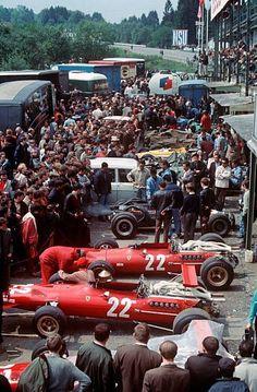 Stock Photo - 22 Chris Amon Ferrari 312 in Spa paddock Belgian GP June 1968 Ferrari Racing, Ferrari F1, F1 Racing, Drag Racing, Ferrari Mondial, Le Mans, F1 Wallpaper Hd, Gilles Villeneuve, Race Engines
