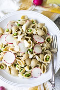 Whole Wheat Pasta with Peas, Radishes, and Parmesan - perfect summer pasta dish!