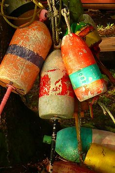 Lobster Buoys by williambuckman, via Flickr