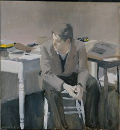Fairfield Porter (1907–1975), Don Schrader, 1962, Oil on canvas   The Metropolitan Museum of Art
