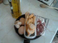 Ingredientes para las sopas de ajo