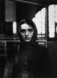 A young Russian Jewish immigrant at Ellis Island, New York, 1905