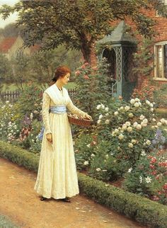 Summer Roses ~ Edmund Blair Leighton ~ (English: 1852-1922)