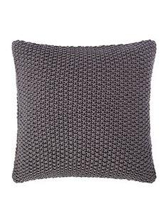 Large gauge knit cushion