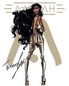 Aaliyah 2018 .5 by TRENDY #aaliyah #aaliyahdanahaughton #aaliyahhaughton #babygirl #TRENDY #2018 #illustration #art