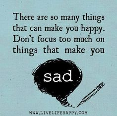 Focus on Happy thoughts ♥ #happy #positive #thinking #words #quote #saying