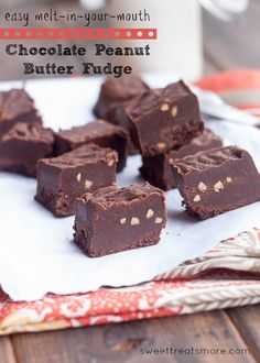 Easy Melt-In-Your-Mouth Chocolate Peanut Butter Fudge {Vegan}