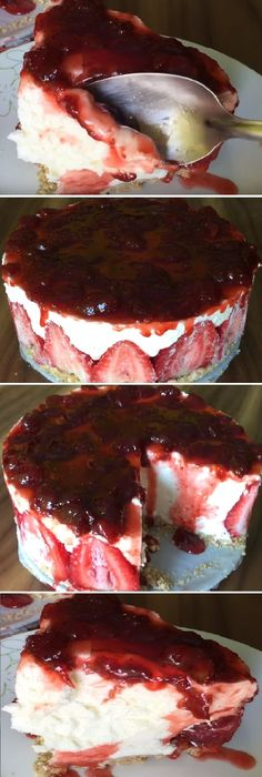 """Lo voy hacer porque de seguro me va salir para chuparse los dedos este Chessecake de queso SIN HORNO """" By Jenny Salas. #cheesecake #queso #crema #sinhorno #mermelada #frutas #gelato #postres #cakes #pan #panfrances #panettone #panes #pantone #pan #recetas #recipe #casero #torta #tartas #pastel #nestlecocina #bizcocho #bizcochuelo #tasty #cocina #chocolate Si te gusta dinos HOLA y dale a Me Gusta MIREN..."""