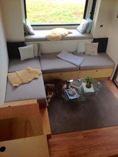 Living Room w/ Nook - Australian Zen Tiny Home