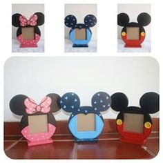 portaretratos de princesas en mdf - Buscar con Google Mickey Mouse Crafts, Fiesta Mickey Mouse, Mickey Mouse And Friends, Mickey Minnie Mouse, Foam Crafts, Diy And Crafts, Crafts For Kids, Disney Frames, Recycled Cds